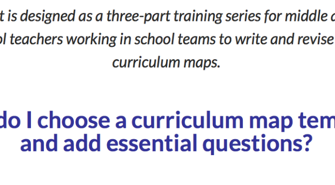Curriculum Mapping, Part 2