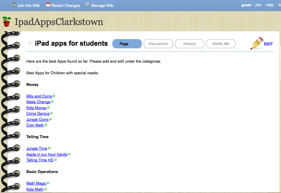 sped wiki apps