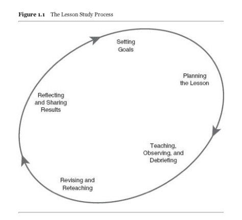 Lesson study process visual